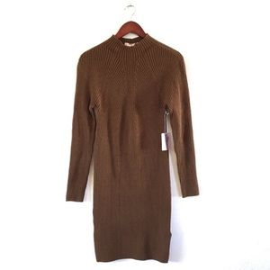 Forever 21 NWT Brown Mock Neck Sweater Dress